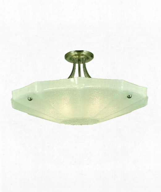 "Veronique 29"" 6 Light Semi Flush Mount In Antique Brass"