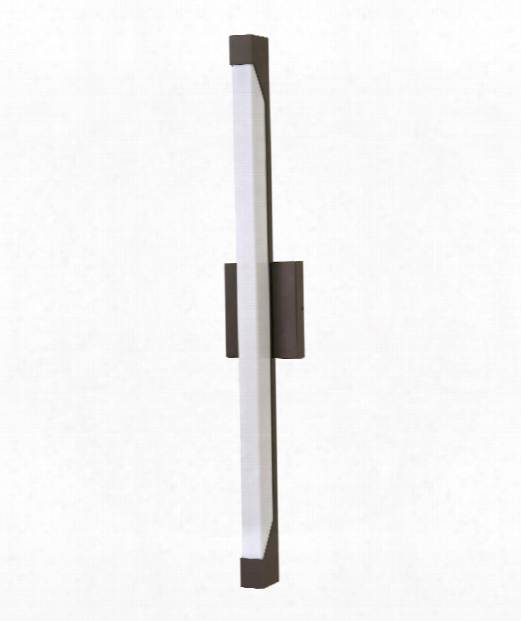 """Vista 5"""" Led 2 Light Outdoor Wall Sconce In Bronze"""