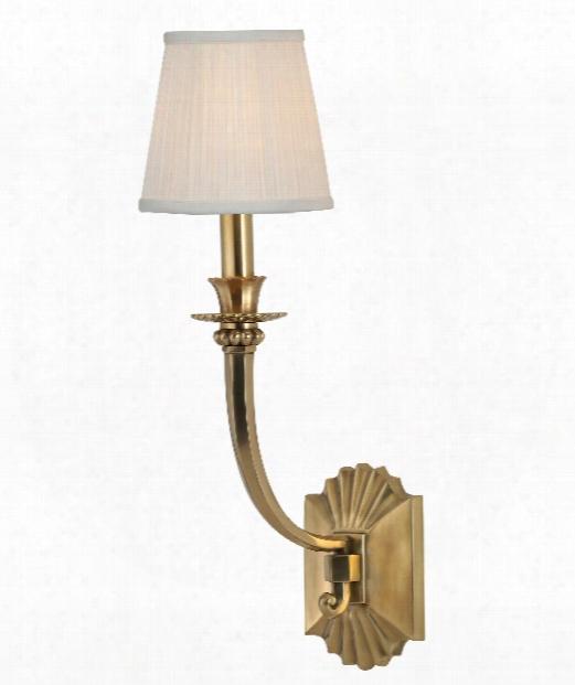 "Alden 6"" 1 Light Wall Sconce In Agde Brass"