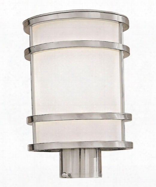 """Bay View 8"""" 1 Light Outdoor Outdoor Post Lamp In Stainless Steel"""
