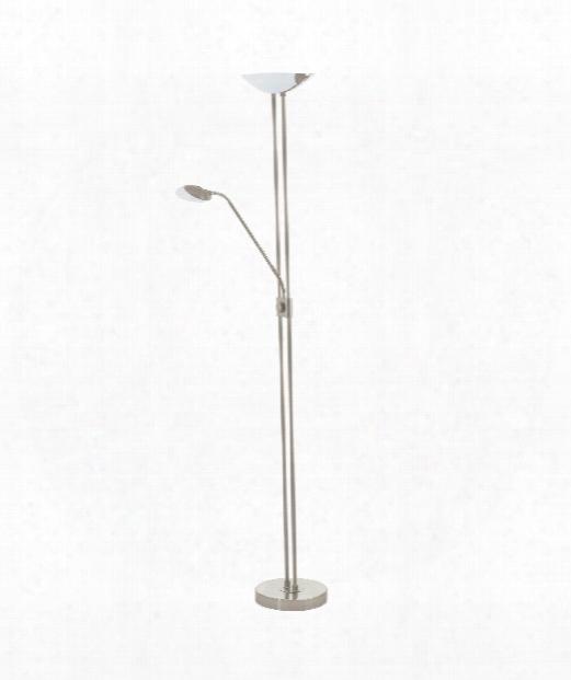 "Baya 14"" Led 3 Light Floor Lamp In Matte Nickel"