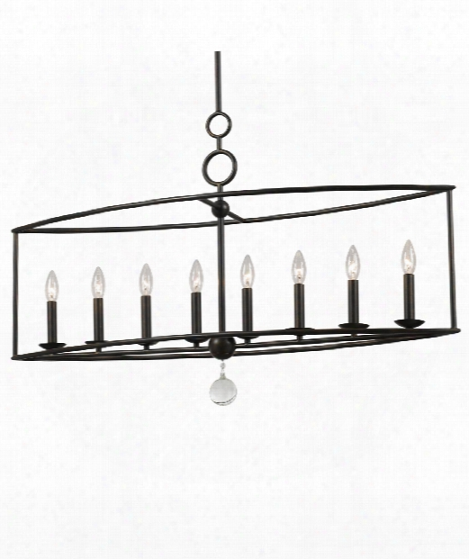 "Cameron 42"" 8 Light Island Light In English Bronze"