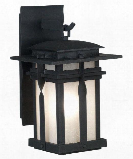 "Carrington 12"" 1 Light Outdoor Outdoor Wall Light In Black"