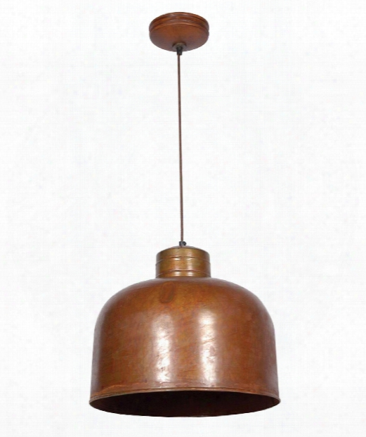 "Chambers 15"" 1 Light Mini Pendant In Rust"