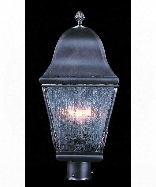 """Coeur De Lion 10"""" 3 Light Outdoor Outdoor Post Lamp In Iron"""