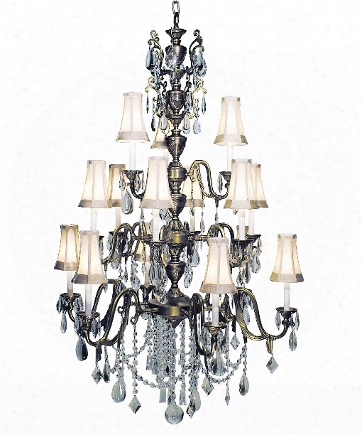 "Czarina 41"" 15 Light Chandelier In Harvest Bronze"