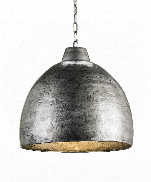 "Eart Hshine 22"" 1 Light Large Pendant In Blackened Steel"