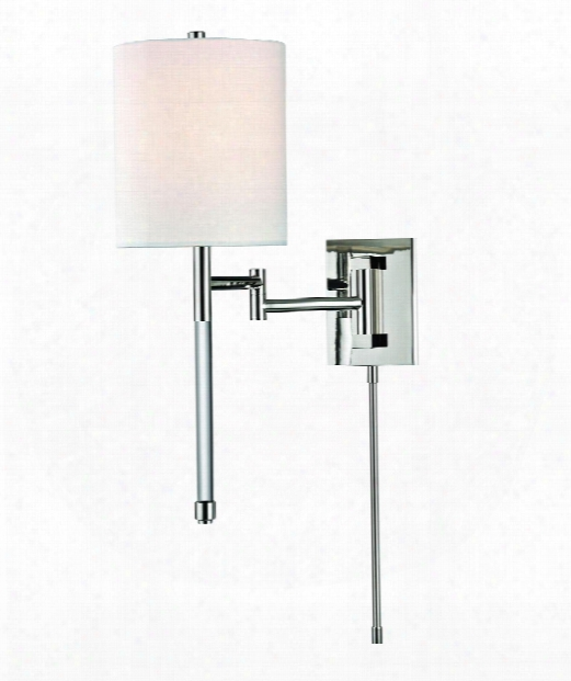 "Englewood 9"" 1 Light Wall Swing Lamp In Polished Nickel"