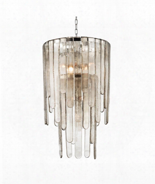 "Fenwater 20"" 9 Light Large Pendant In Polished Nickel"