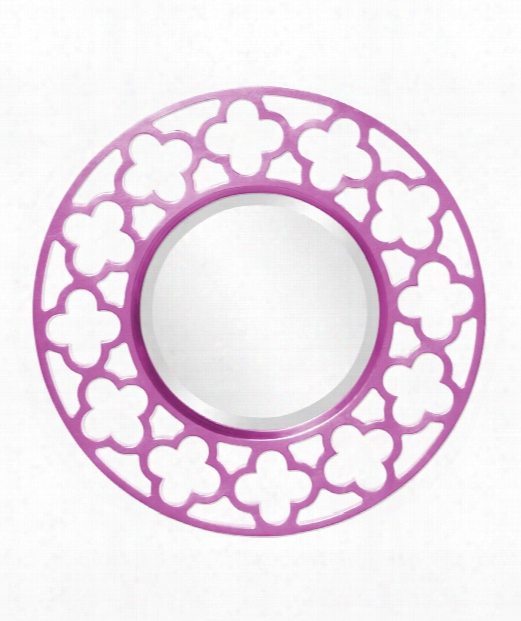 """Gaelic 20"""" Wall Mirror In Hot Pink"""
