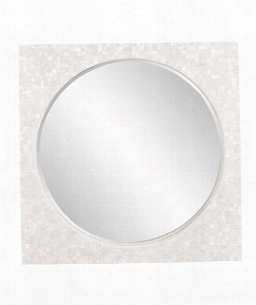 "Glendon 42"" Wall Mirror In Mother Of Pearl Shell"