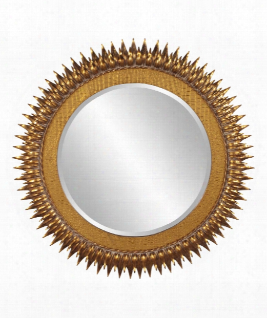 "Helios 36"" Wall Mirror In Gold Leaf"