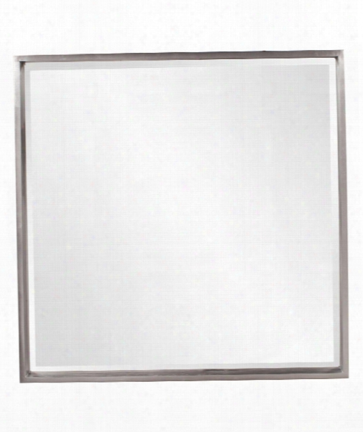 "Isa 40"" Wall Mirror In Bright Nickel"