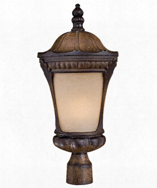 "Kent Place 10"" 1 Light Outdoor Outdoor Post Lamp In Prussian Gold"