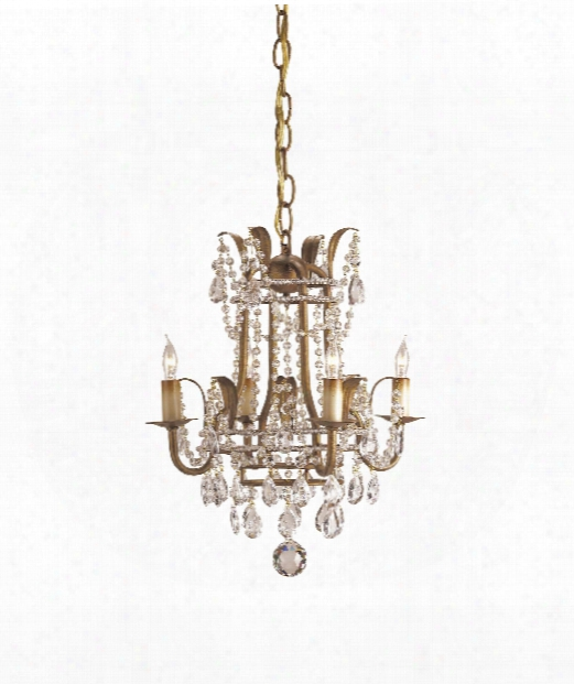 "Laureate 13"" 4 Light Mini Chandelier In Rhine Gold"