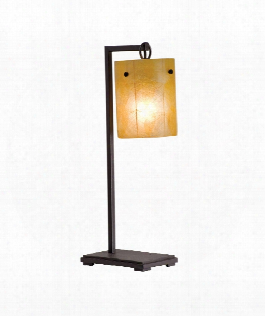 "Madera 10"" 1 Light Table Lamp In Bronze"