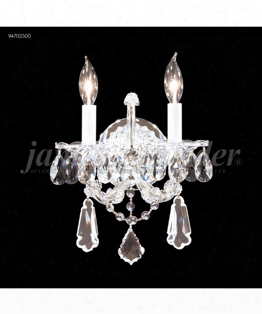 """Maria Theresa Royal 11"""" 2 Light Wall Sconce In Silver"""