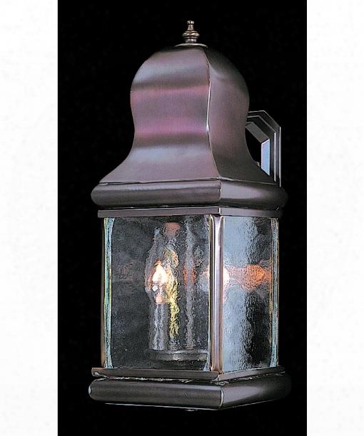 """Marquis 6"""" 2 Light Outdoor Outdoor Wall Light In Harvest Bronze"""
