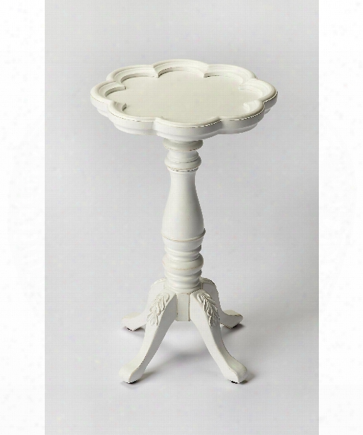 "Masterpiece 12"" Accent Table In Cottage White"
