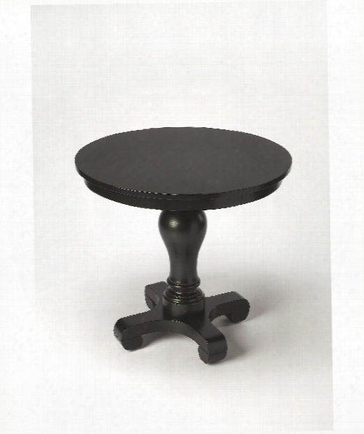 """Masterpiece 30"""" End Table In Black Licorice"""