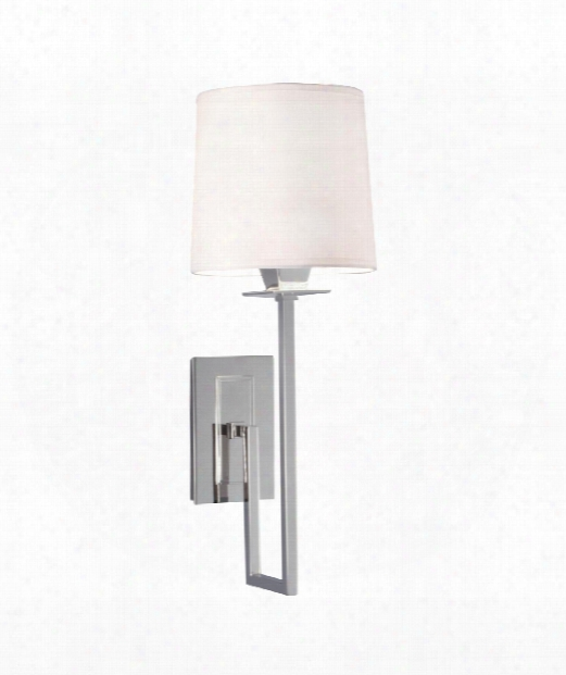 "Maya 4"" 1 Light Wall Sconce In Polished Nickel"