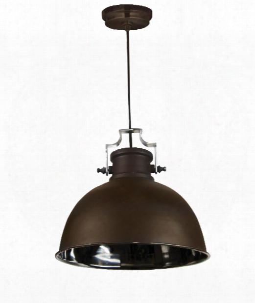"""Nautilus 14"""" 1 Light Mini Pendant In Antique Bronze Nickel"""