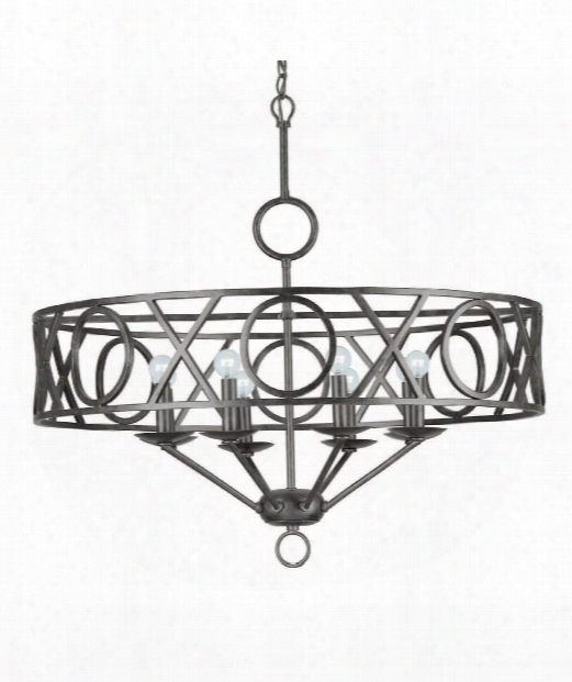 "Odette 30"" 8 Light Chandelier In English Bronze"