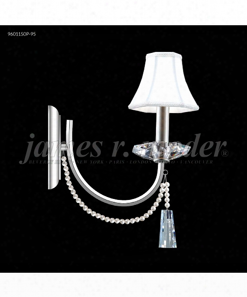 "Pearl 4"" 1 Light Wall Sconce In Silver"