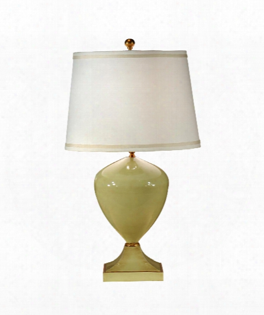 Pretty Green 1 Light Table Lamp In Hand Colored Green Ceramic