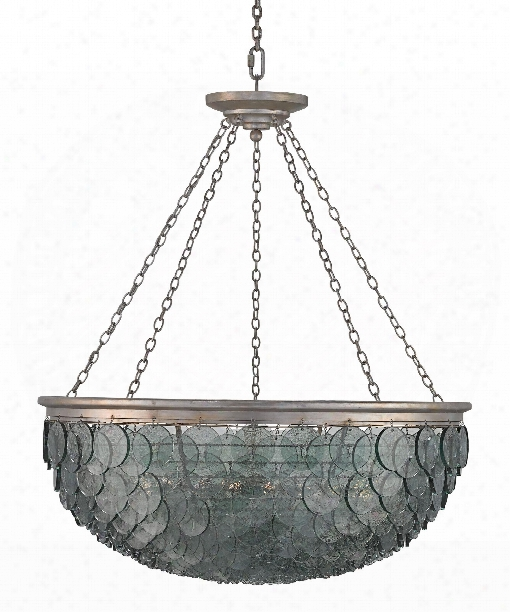 "Quorum 50"" 20 Light Large Pendant In Silver Leaf"