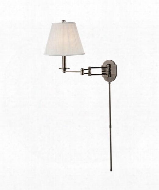 "Ravena 11"" 1 Light Wall Swing Lamp In Historic Nickel"