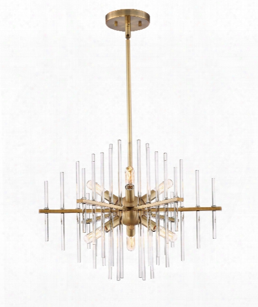 "Reeve 20"" 6 Light Mini Chandelier In Burnished Antique Brass"