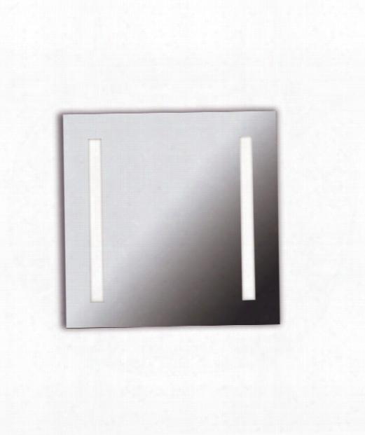 "Rifletta 26"" 2 Light Wall Mirror In Chrome"