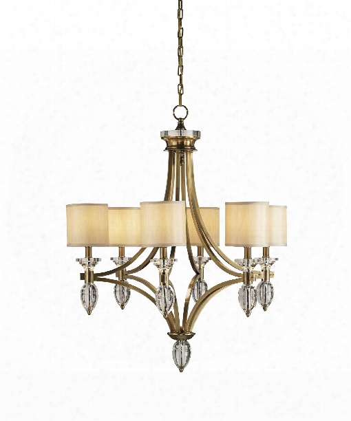"Sebastian 30"" 6 Light Chandelier In Coffee Bronze"