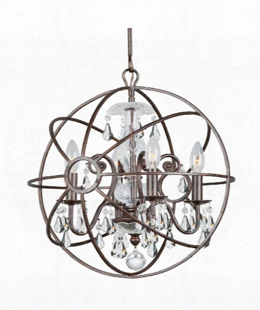 "Solaris 17"" 4 Light Large Pendant In English Bronze"
