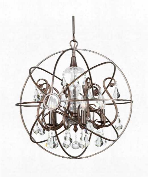 "Solaris 22"" 5 Light Large Pendant In English Bronze"