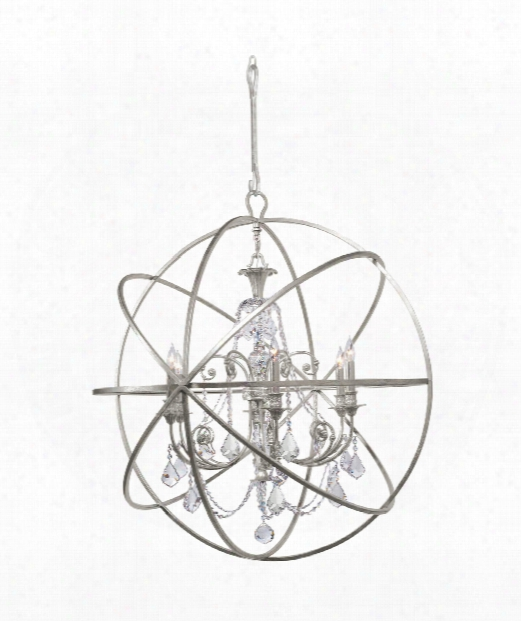 Solaris 40&qot; 6 Light Chandelier In Olde Silver
