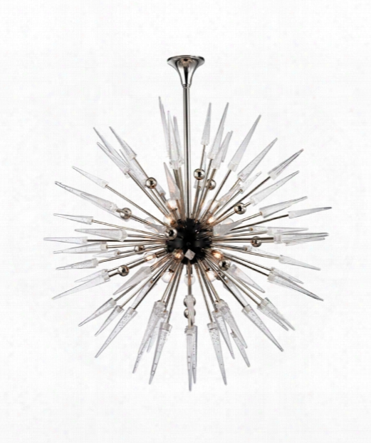 "Sparta 48"" 18 Light Large Pendat In Polished Nickel"