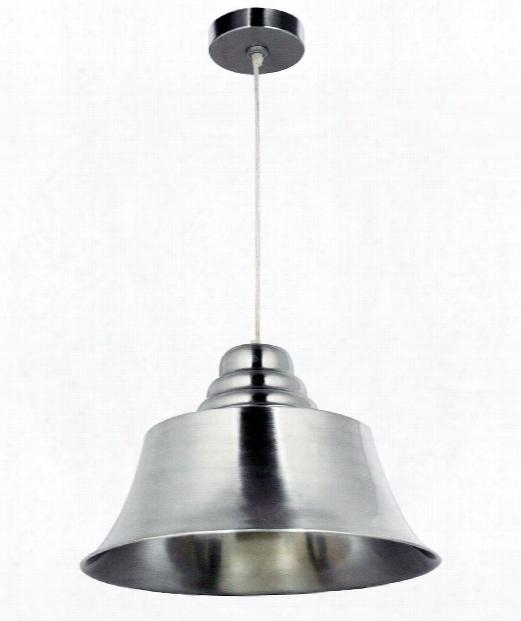 "Spinnaker 18"" 1 Light Large Pendant In Brushed Steel"