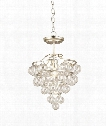 "Astral 15"" 1 Light Mini Pendant in Contemporary Silver Leaf"