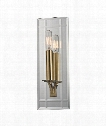 "Austin 5"" 1 Light Wall Sconce in Aged Brass"