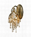 "Autumn Twilight 7"" 3 Light Wall Sconce in Mystic Gold"
