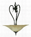 "Black Forest 20"" 3 Light Large Pendant in Harvest Bronze"