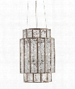 "Fantasia 14"" 4 Light Foyer Pendant in Pyrite Bronze-Raj Mirror"