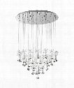 "Pianopoli 31"" LED 43 Light Multi Pendant Light in Chrome"