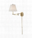 "Ravena 11"" 1 Light Wall Swing Lamp in Aged Brass"