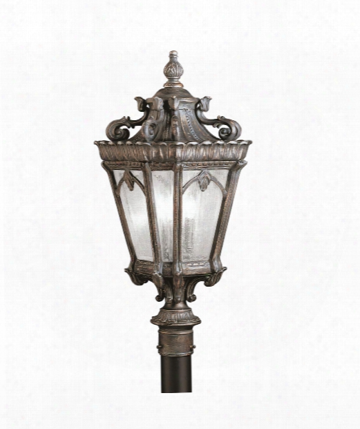 "Tournai 12"" 3 Light Outdoor Outdoor Post Lamp In Londonderry"