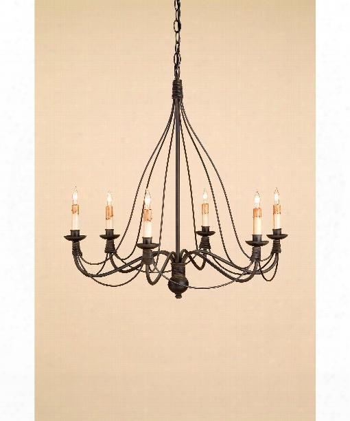"Trademark 28"" 6 Light Chandelier In Blacksmith"