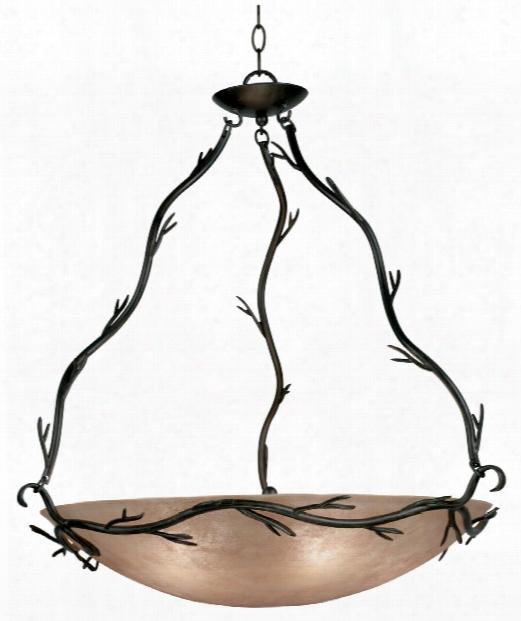 "Twigs 29"" 5 Light Abundant Pendant In Bronze"
