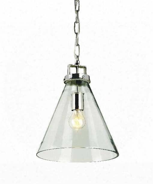 "Vitrine 11"" 1 Light Mini Pendant In Clear Glass-nickel"